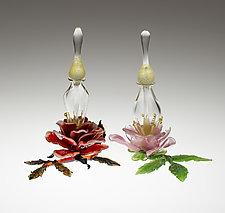 Rose Perfume Bottle by Loy Allen (Art Glass Perfume Bottle)