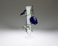 Morning Glory Bud Vase by Loy Allen (Glass Vases & Vessels)