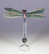 Dragonfly Bottle by Loy Allen (Art Glass Perfume Bottle)