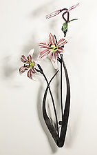 Wall-Mounted Lily by Loy Allen (Art Glass Wall Sculpture)
