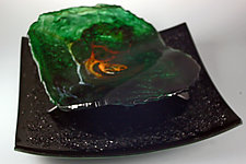 Emerald Wave by Colleen Gyori (Art Glass Sculpture)