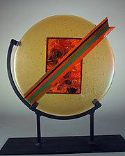 Lightning by Colleen Gyori (Art Glass Sculpture)