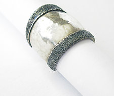 Turned Edge Ring by Dennis Higgins (Silver Ring)