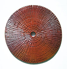Burmese Wheel by Ronald Artman (Ceramic Wall Sculpture)