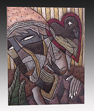 Lovers by David Stabley (Ceramic Wall Sculpture)
