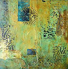 Aztec Sun I by Filomena Booth (Mixed-Media Wall Art)