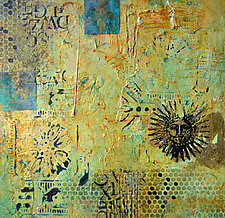 Aztec Sun II by Filomena Booth (Mixed-Media Wall Art)
