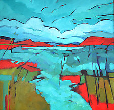 Red Hills by Filomena Booth (Acrylic Painting)