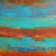 Sand and Sea II by Filomena Booth (Acrylic Painting)