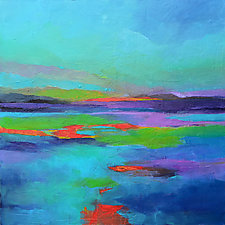 Red Horizon by Filomena Booth (Acrylic Painting)