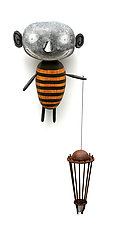 MoonBee with Cloud Catcher by Bruce Chapin (Wood Wall Sculpture)