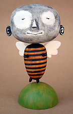 Zeek MoonBee Baby by Bruce Chapin (Wood Sculpture)