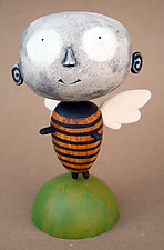 Zozo MoonBee Baby by Bruce Chapin (Wood Sculpture)