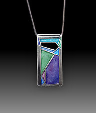 Acadia Pendant No. 455 by Carly Wright (Enameled Necklace)