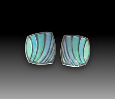 Shell Earrings No.474 by Carly Wright (Enameled Earrings)