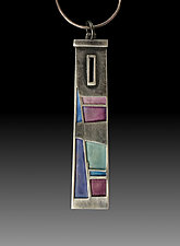 Tower Window Pendant No.418 by Carly Wright (Enameled Necklace)