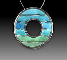 Rising Waters Pendant by Carly Wright (Silver & Enamel Necklace)