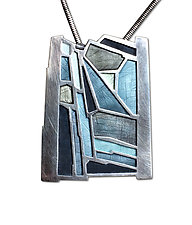 Aran Island No.489 by Carly Wright (Silver & Enamel Necklace)