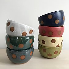 Small Dot Bowl by Louise Bilodeau (Ceramic Bowl)