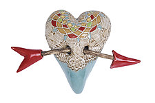Little Valentine by Laurie Pollpeter Eskenazi (Ceramic Wall Sculpture)