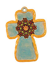 Rose Window by Laurie Pollpeter Eskenazi (Ceramic Wall Sculpture)
