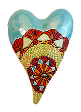 Lola's Heart by Laurie Pollpeter Eskenazi (Ceramic Wall Sculpture)