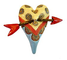 Matilda's Tablecloth by Laurie Pollpeter Eskenazi (Ceramic Wall Sculpture)