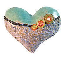 Annie's Little Fatties 1 by Laurie Pollpeter Eskenazi (Ceramic Wall Sculpture)
