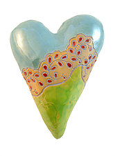 Aunt Millie's Cuff in Blue by Laurie Pollpeter Eskenazi (Ceramic Wall Sculpture)
