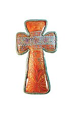 Lily's Cross by Laurie Pollpeter Eskenazi (Ceramic Wall Sculpture)