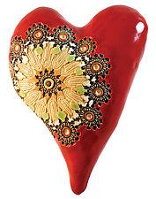Radiance Heart by Laurie Pollpeter Eskenazi (Ceramic Wall Sculpture)