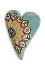 Marcele's Colors in Blue by Laurie Pollpeter Eskenazi (Ceramic Wall Sculpture)