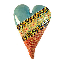 Lily's Heart by Laurie Pollpeter Eskenazi (Ceramic Wall Sculpture)