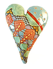 Lola's Big Sister by Laurie Pollpeter Eskenazi (Ceramic Wall Sculpture)