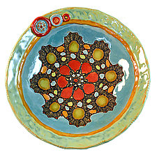 Lina's Petals by Laurie Pollpeter Eskenazi (Ceramic Bowl)