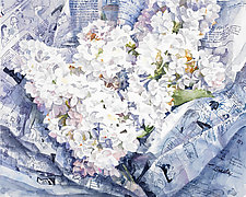 White Lilacs by Terrece Beesley (Watercolor Painting)