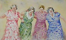 Let's Dance II by Terrece Beesley (Watercolor Painting)