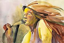 Rock Star by Terrece Beesley (Watercolor Painting)