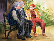 The Entertainer by Terrece Beesley (Paintings & Drawings Watercolor Paintings)