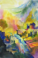 View from the Canyon by Terrece Beesley (Watercolor Painting)