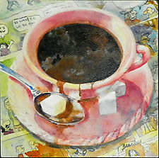 Clouds in My Coffee by Terrece Beesley (Watercolor Painting)