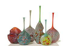 Elemental Series Bottles by David Royce (Art Glass Vessel)