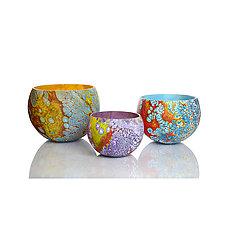 Elemental Bowls II by David Royce (Art Glass Bowl)