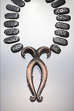 Arrow Stance Necklace by Shana Kroiz (Copper & Silver Necklace)
