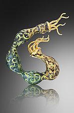 Regal Wind Brooch by Shana Kroiz (Enameled Brooch)