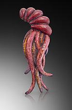 Regal Squid Brooch by Shana Kroiz (Enameled Brooch)