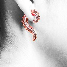 Small Beaded Swoop by Shana Kroiz (Metal Earrings)