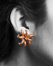 Medium Poof Earrings by Shana Kroiz (Metal Earrings)
