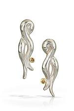 Elegant Twist Earring by Shana Kroiz (Gold, Silver & Stone Earrings)