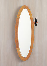 Small Birdie Mirror by Sylvie Rosenthal (Wood Mirror)